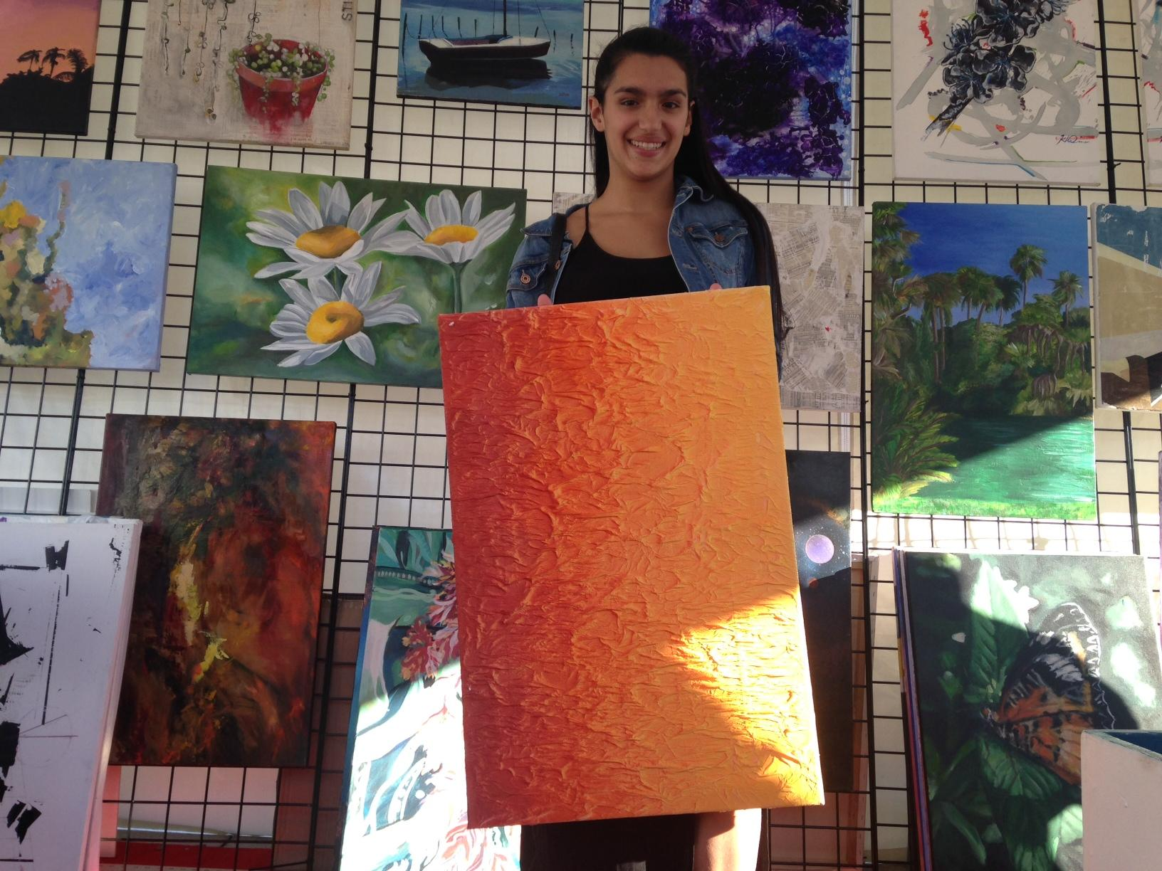 New World High School Students Sell Artwork At Coconut Grove
