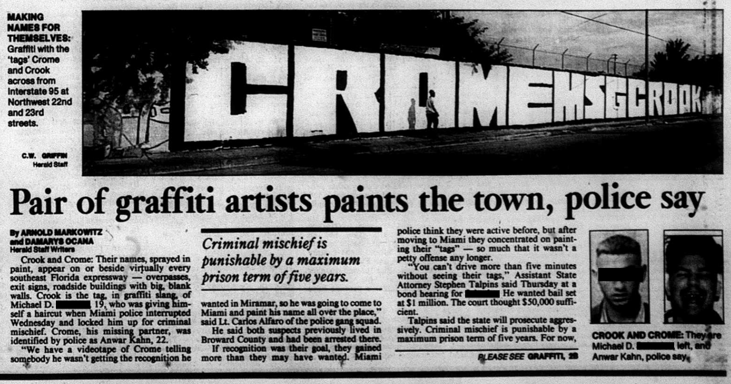 South Florida's Graffiti Problem In The '90s Had An Emblem