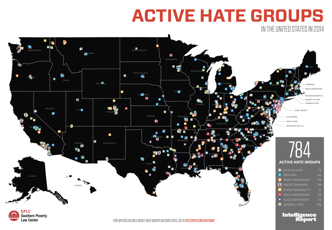 Hate Group Map Florida Near The Top In The Number Of Hate Groups | WLRN Hate Group Map