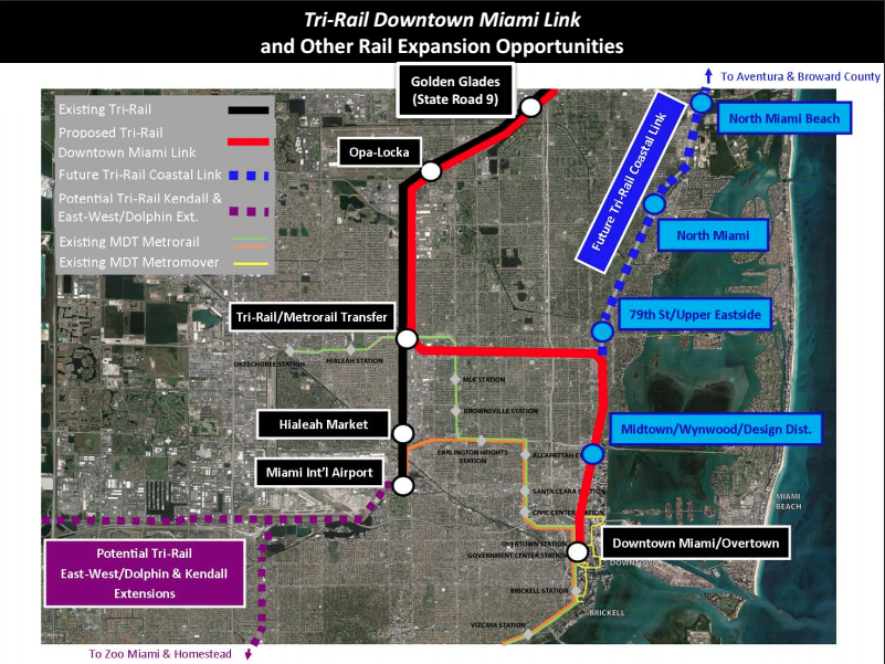 miami-dade commission approves downtown tri-rail funding