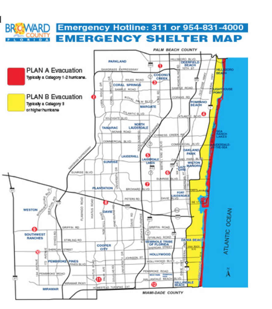 do you know where the nearest hurricane shelter is? here is