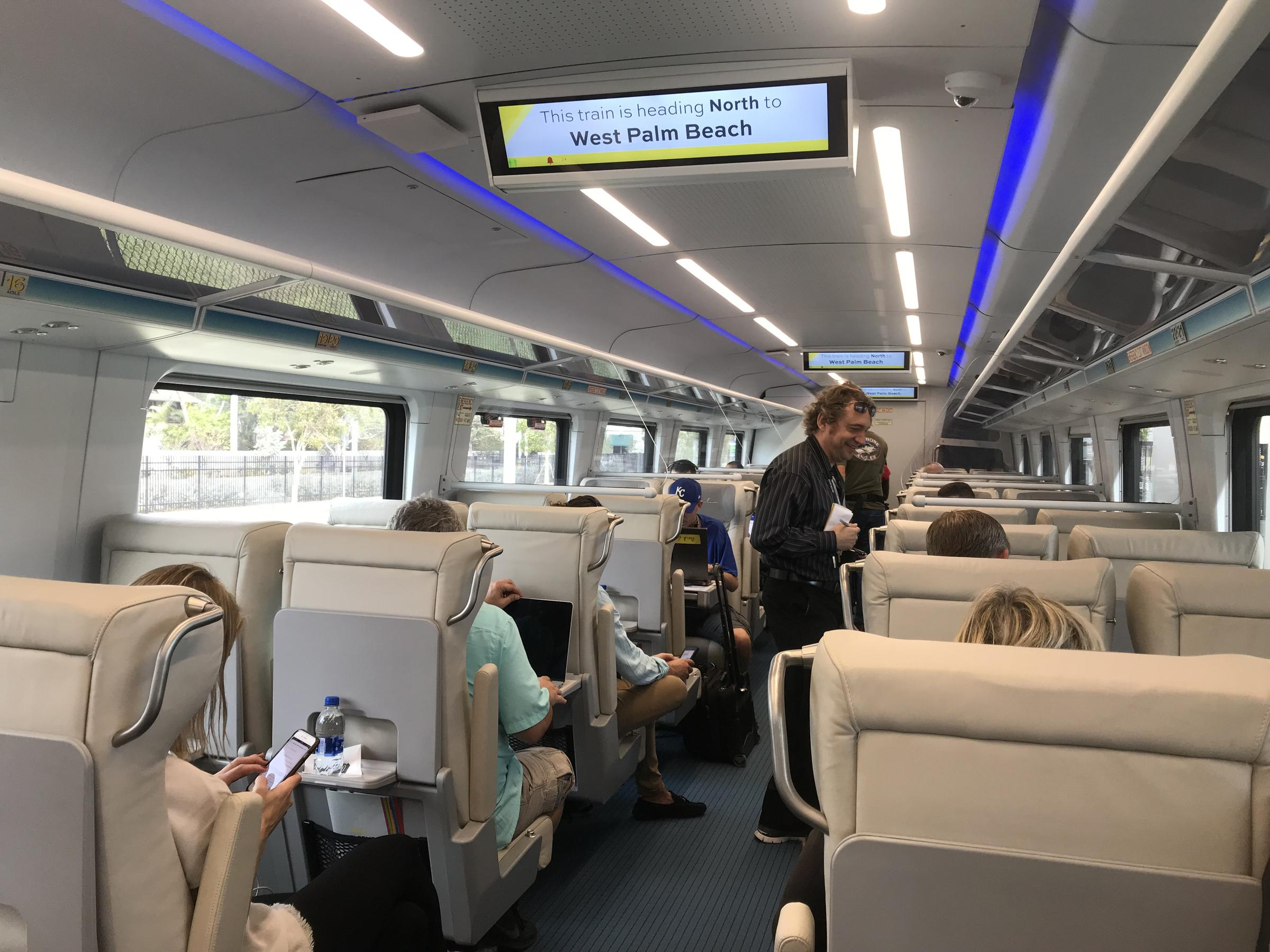 On The Inside Of Brightline S Trains There Full Food And Beverage Service Coffee Sodas Will Cost You 2 Each
