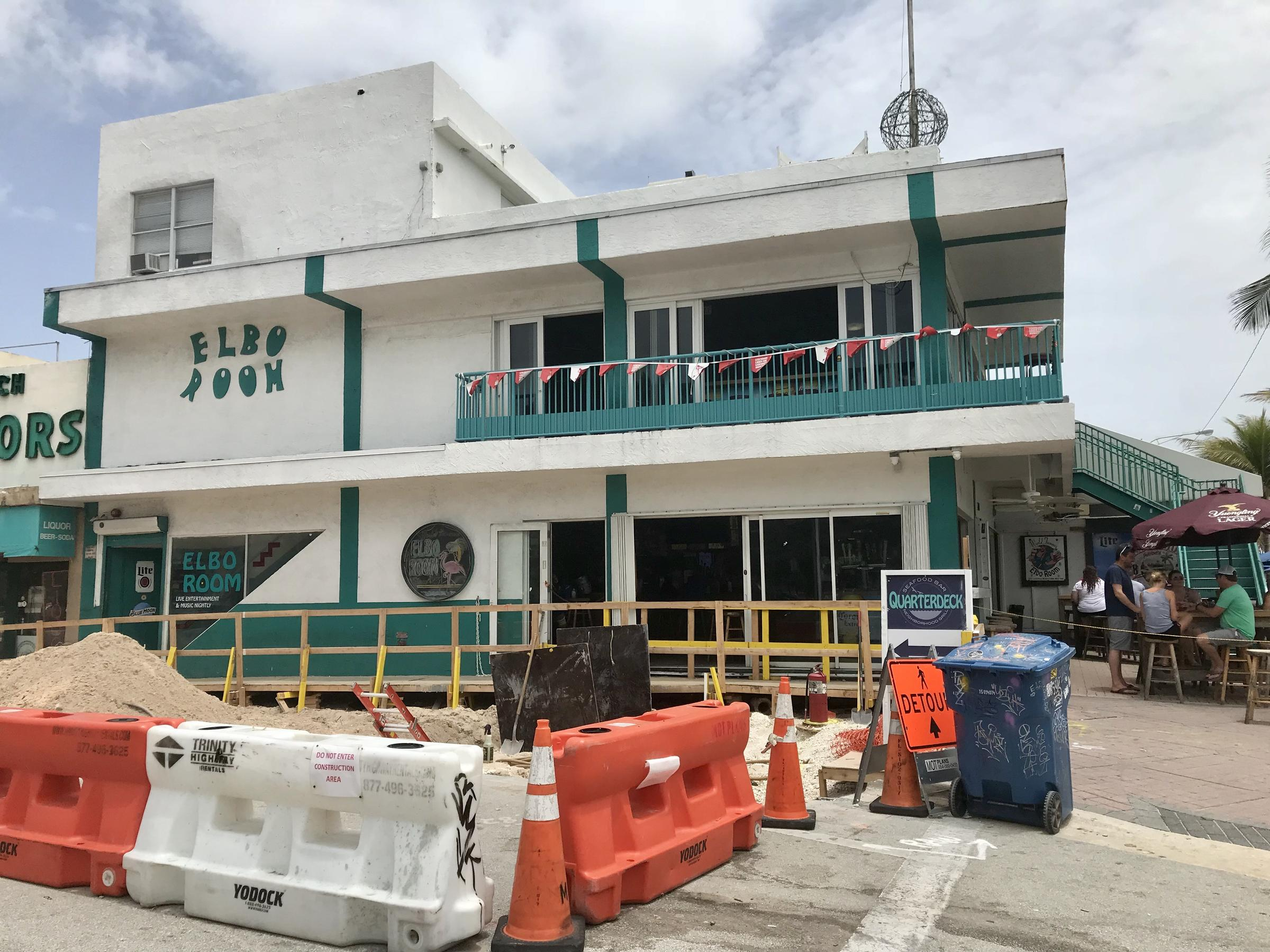 Some Construction Started Already In Front Of The Elbo Room And Quarterdeck About Three Months Ago