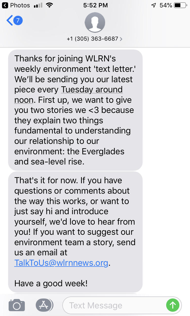 Environment Text Letter Sample - For Awards Consideration | WLRN