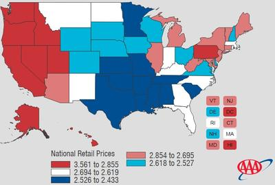 Gas Prices In Tennessee >> Aaa Big Bump In Tennessee Gas Prices Just Ahead Wmot