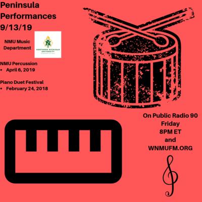 Peninsula Performances 9/13/19: NMU Percussion April 2019