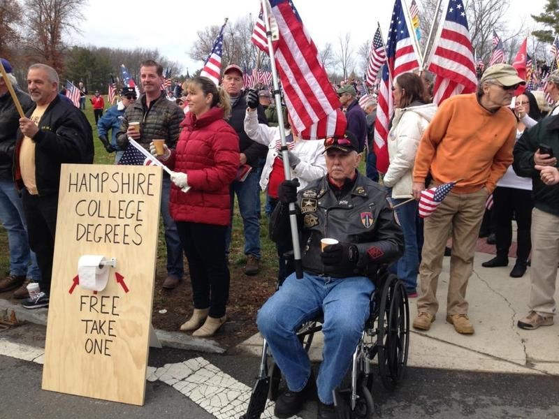 Image result for flag flown at hampshire college