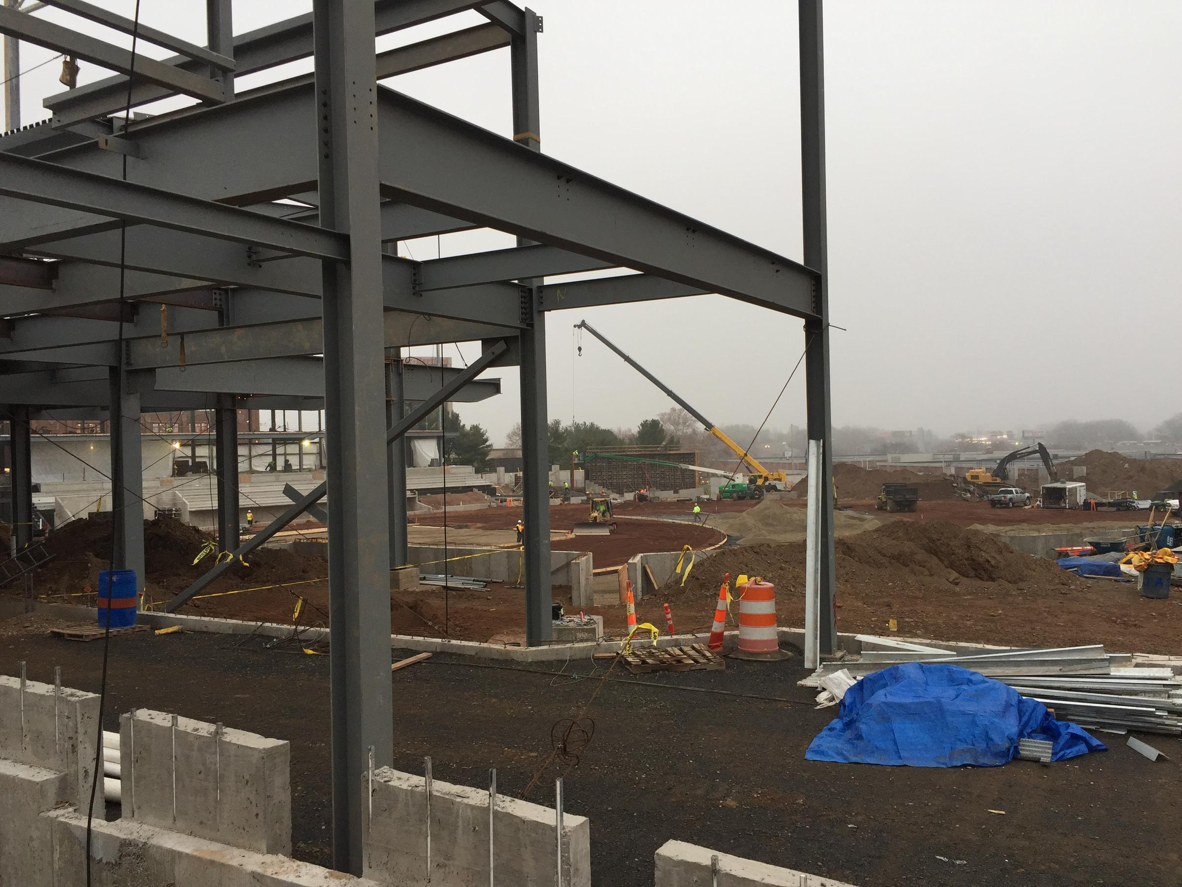 Construction Underway At The Hartford Yard Goats New Home Monday