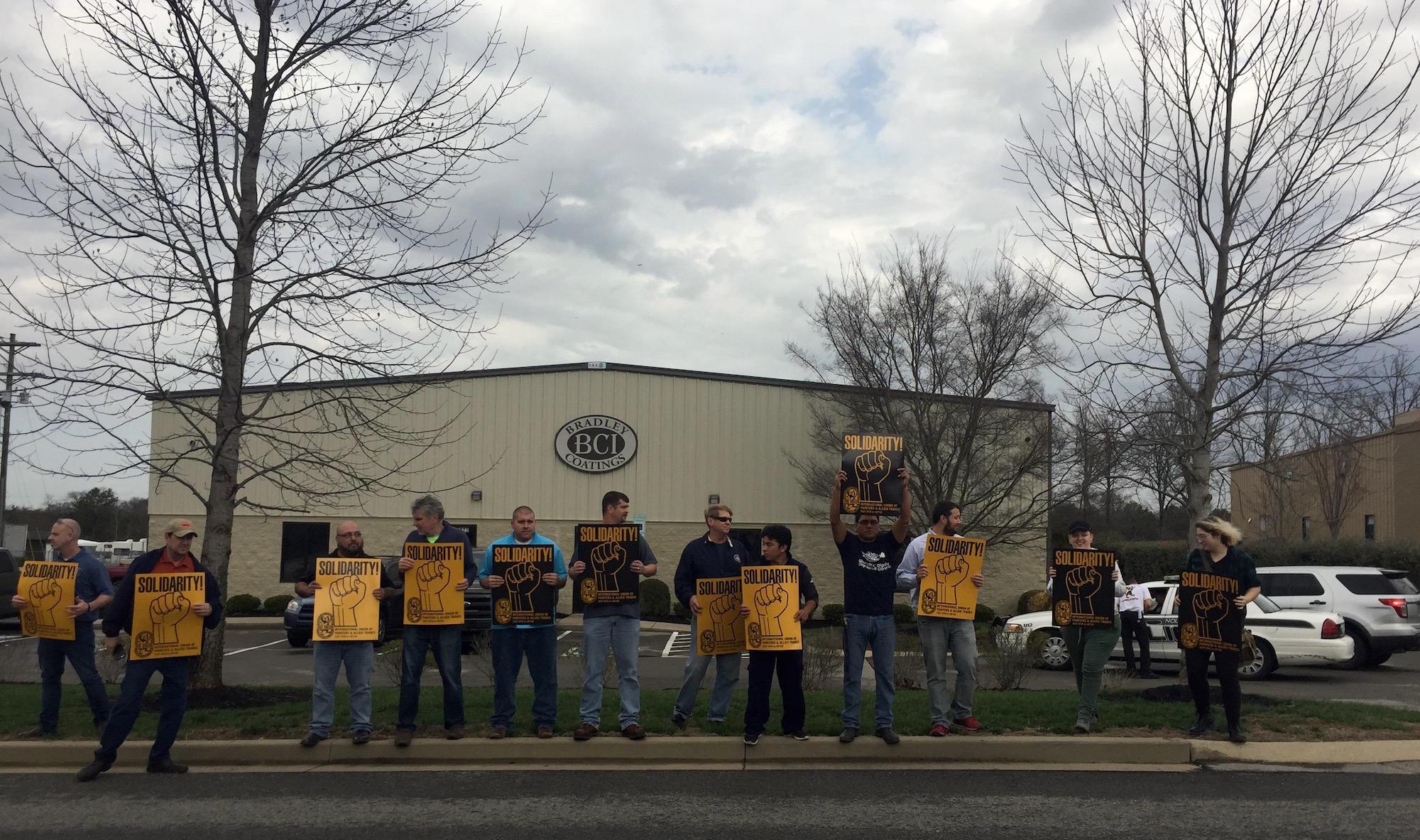 worker protest Nolensville Tennessee