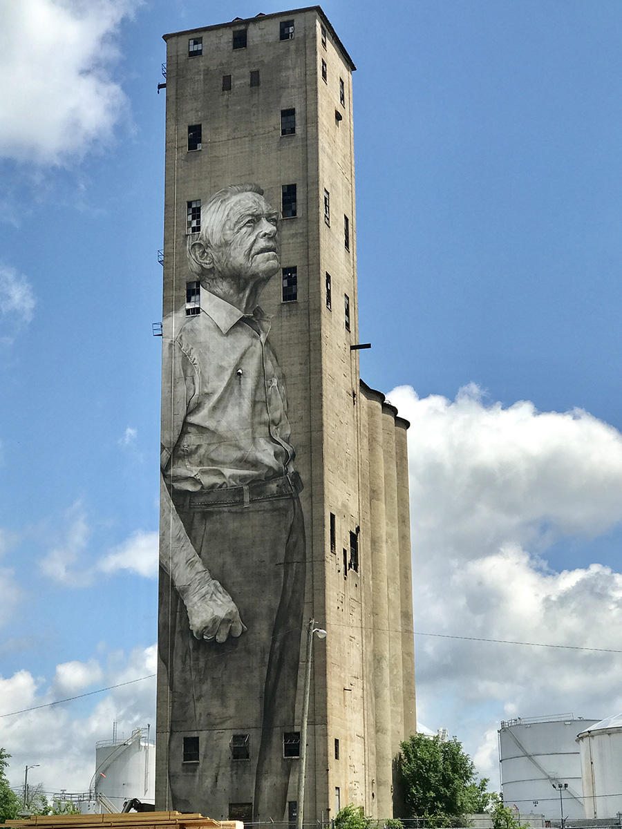 This Stunning Silo Mural Makes A West Nashville Old-Timer An Icon Of
