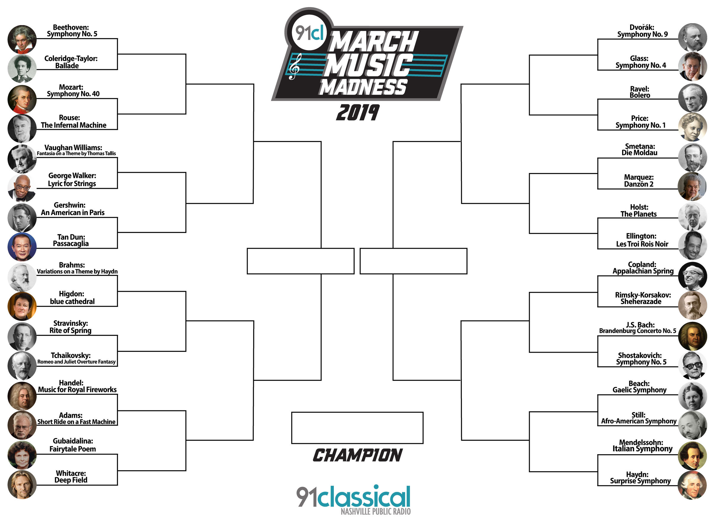 March Music Madness 2019: Round 1 Voting