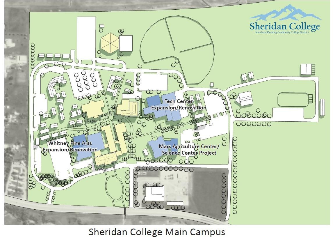 Sheridan College Receives $25 Million Donation | Wyoming ... on temple university campus map, university of windsor campus map, wayne state university campus map, university of waterloo campus map, mount royal university campus map, stevens institute of technology campus map, gillette campus map, university of calgary campus map, university of southern california campus map, american university campus map, southern methodist university campus map, york university campus map, university of delaware campus map, athabasca university campus map, university of british columbia campus map, university of denver campus map, bishop's university campus map, florida state university campus map, stanford university campus map, southeast missouri state university campus map,