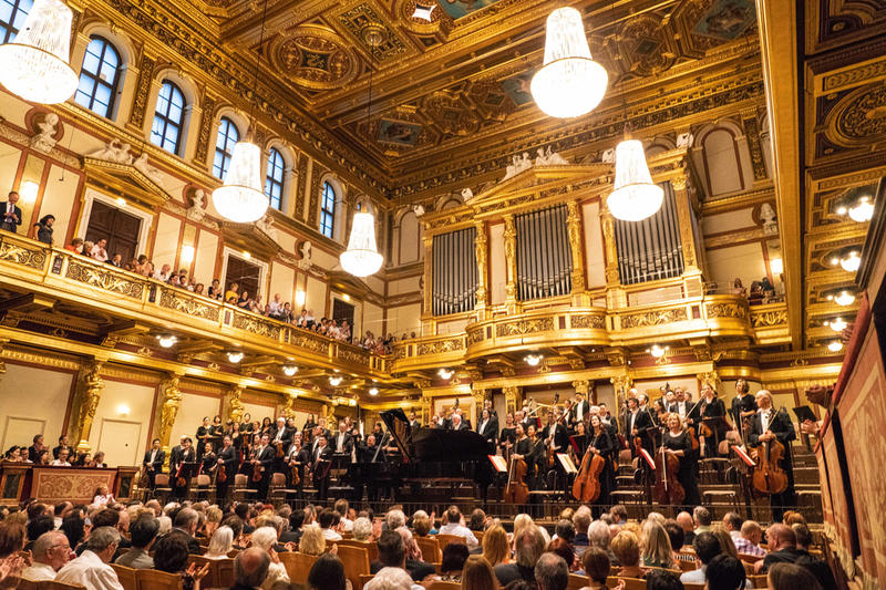 The Philadelphia Orchestra performing at the storied Musikverein in Vienna.