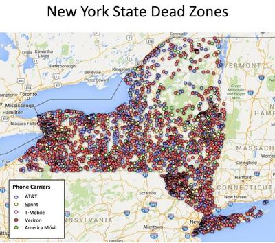 Schumer: Too many 'dead zones' in cell coverage in upstate ... on cell carrier service maps, u.s. cellular maps, cell network coverage maps, cell tower coverage maps, mobile carrier coverage maps, cell phone coverage maps, cell carrier logos, cell coverage area map,