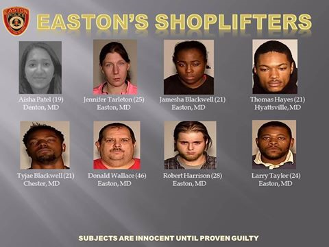 Arrested Shoplifters Could Show Up on Easton PD Facebook