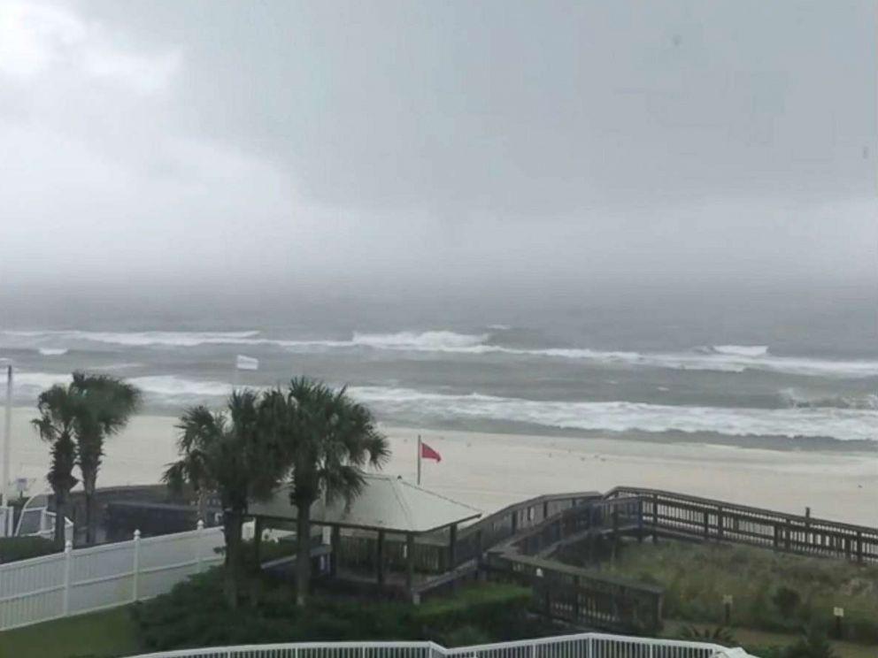 Rain And Choppy Surf In Orange Beach Ala Ahead Of Hurricane Nate