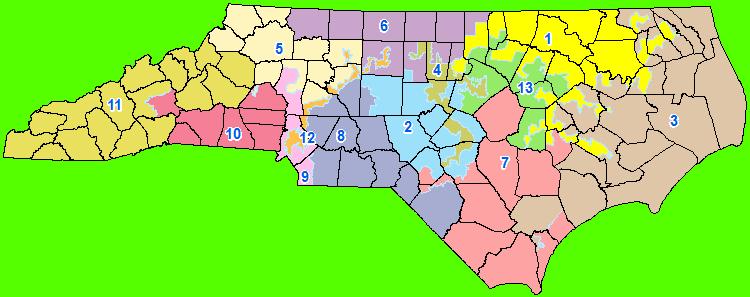 Us Supreme Court Strikes Down Two Nc Congressional Districts Wunc - Us-2011-congressional-district-map