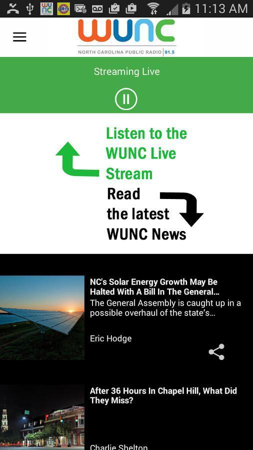 Ways To Listen To WUNC Online   WUNC
