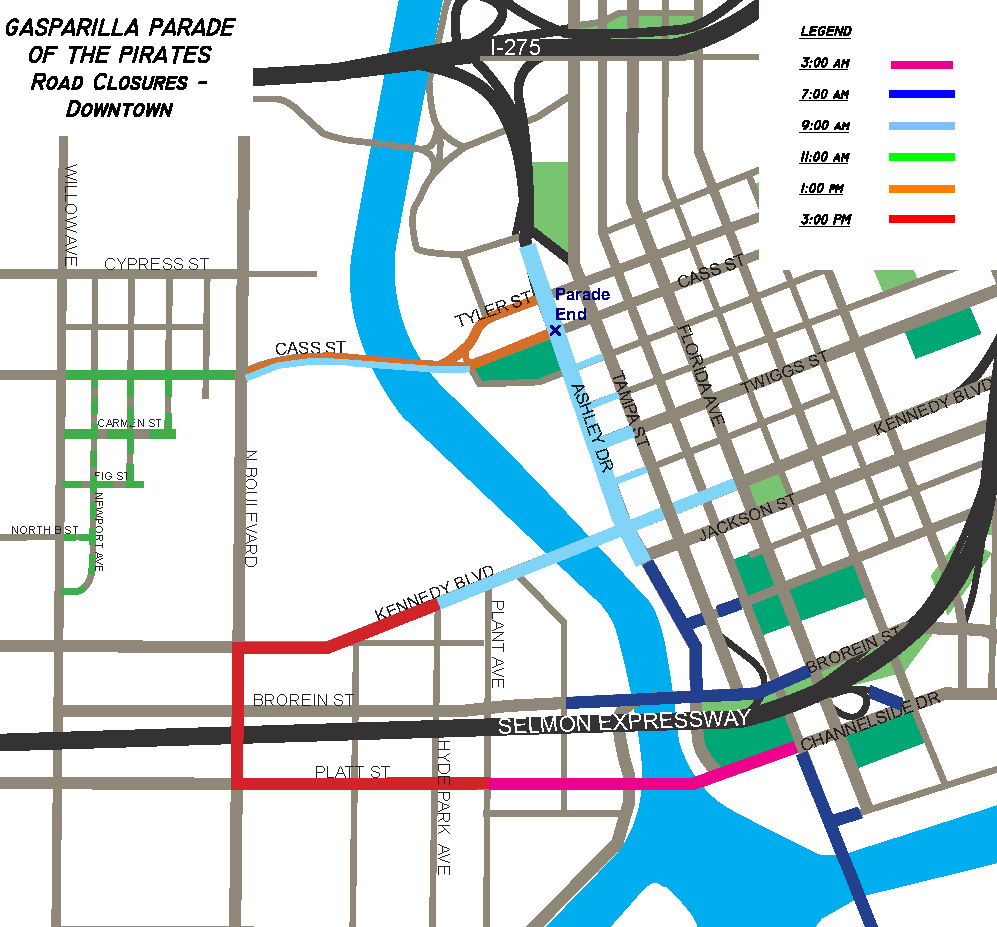 Tampa Traffic Map Gasparilla Roads Closing, Parking A Definite Pain | WUSF News Tampa Traffic Map