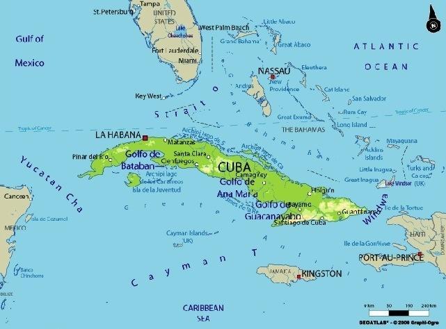 Map Of Cuba And Us Florida's U.S. Senators Differ on Reaction to Easing of Cuba  Map Of Cuba And Us
