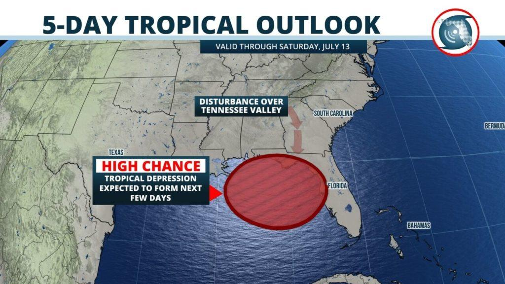 Map Of Central Florida Gulf Coast.Tropical Development Likely To Drench Tampa Bay Florida S Gulf