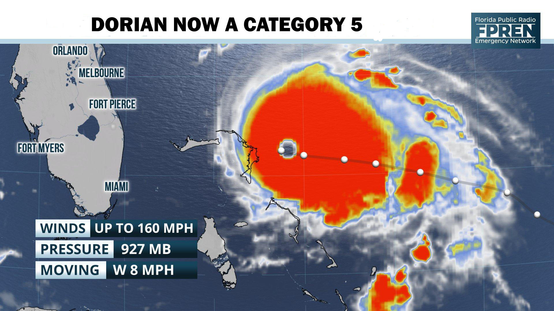 Hurricane Dorian Now a 'Catastrophic Category 5' Storm