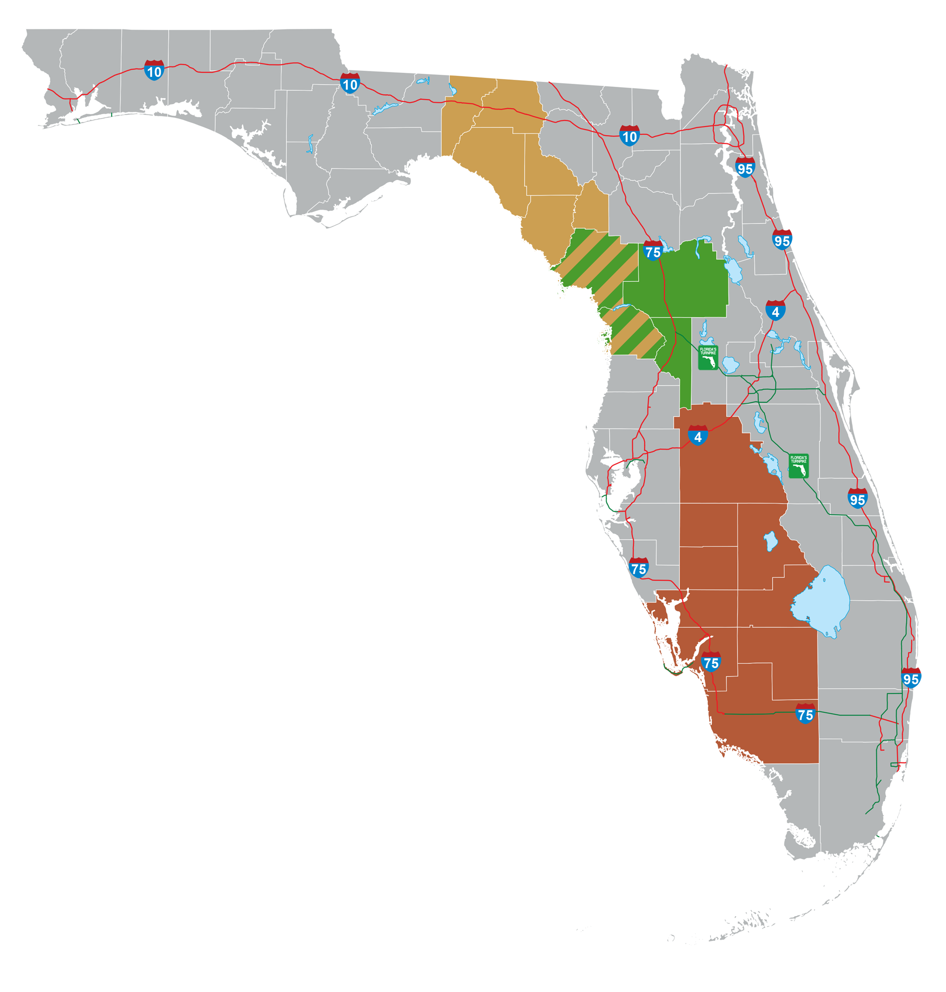 toll road map florida Toll Roads To Avoid Sensitive Areas Environmentalists Not Swayed