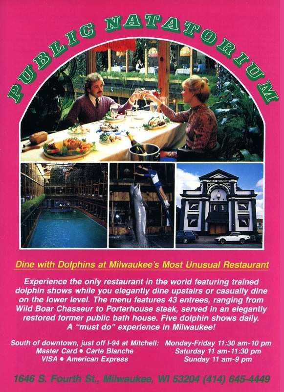 Dining With Dolphins Remembering Milwaukee S Most Unusual