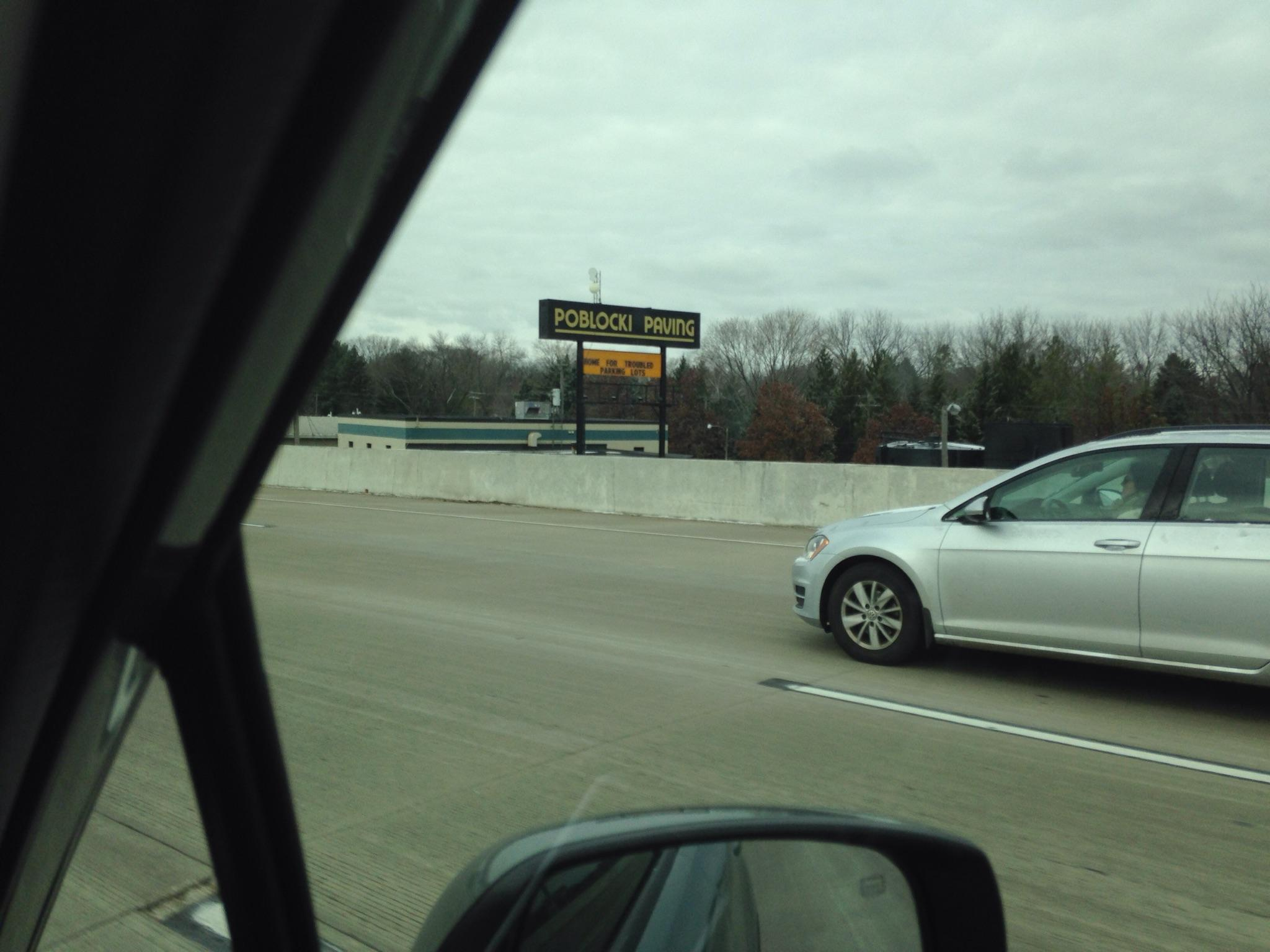 Poblocki Paving: Rolling Puns For I-94 Commuters Since 1982