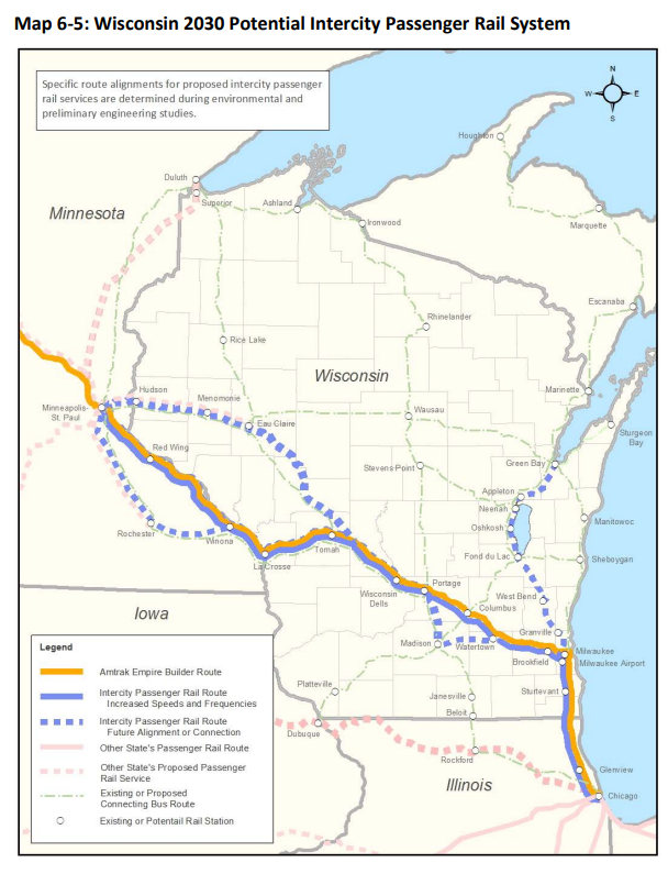 Chicago Wisconsin Map A Matter Of Political Will: High Speed Rails In Wisconsin | WUWM