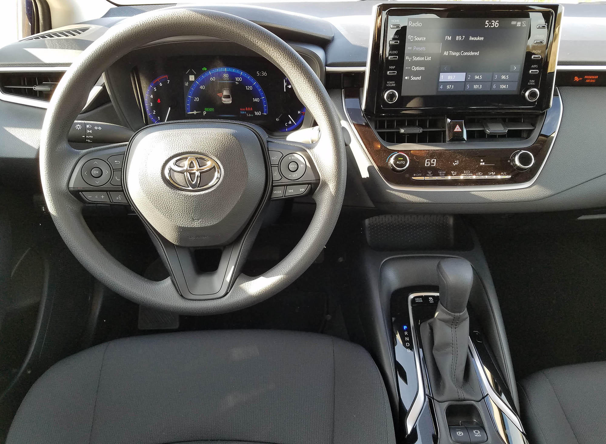 Toyota Corolla Interior >> 2020 Toyota Corolla LE Hybrid Review: High Value, High MPG