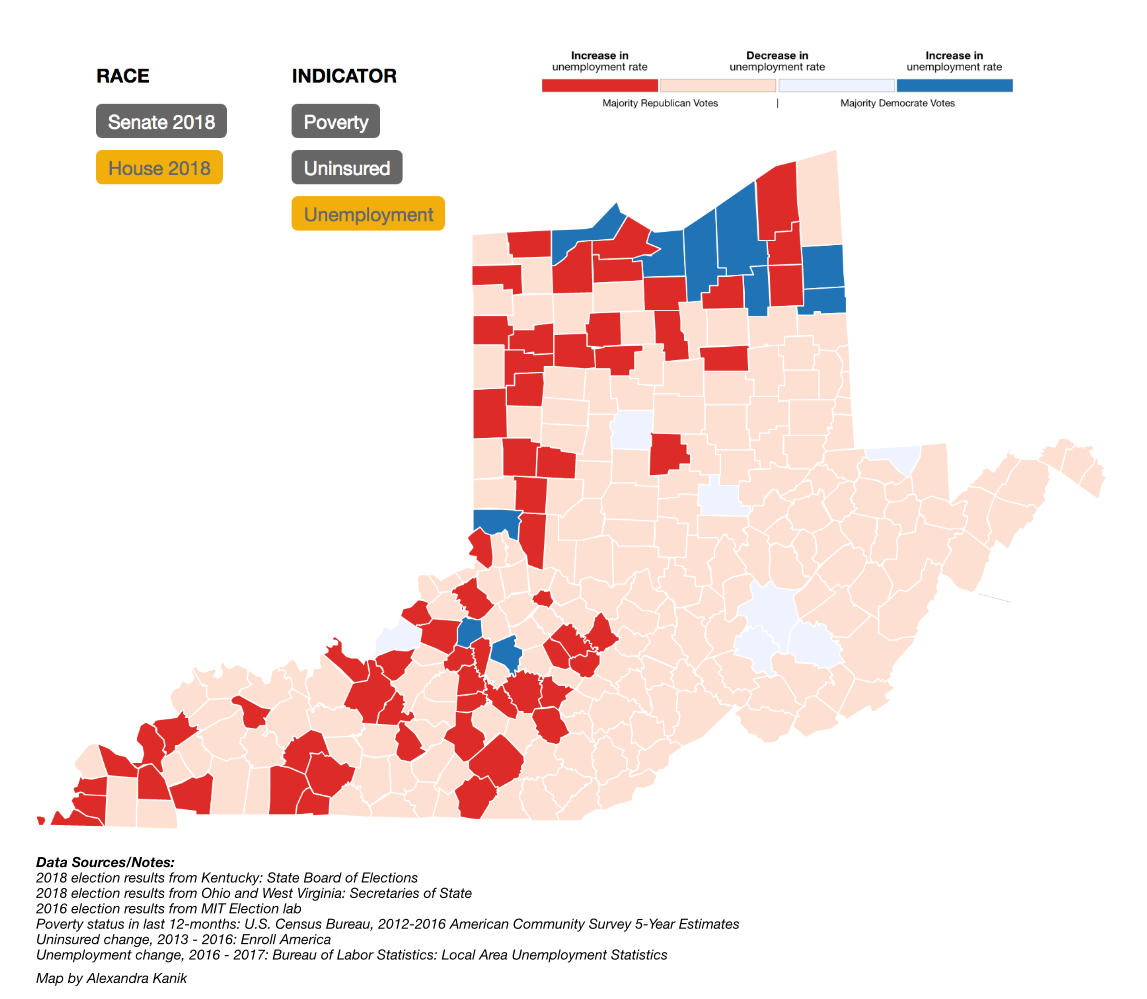 Voting Map Of America 2017.A Data Dive Into The Ohio Valley Midterm Election Results West