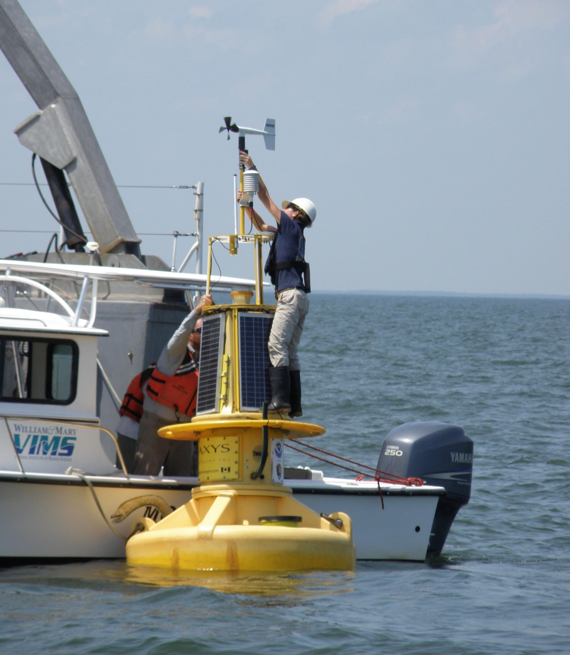 NOAA's Newest Smart Buoy Deployed in the York River | WVTF