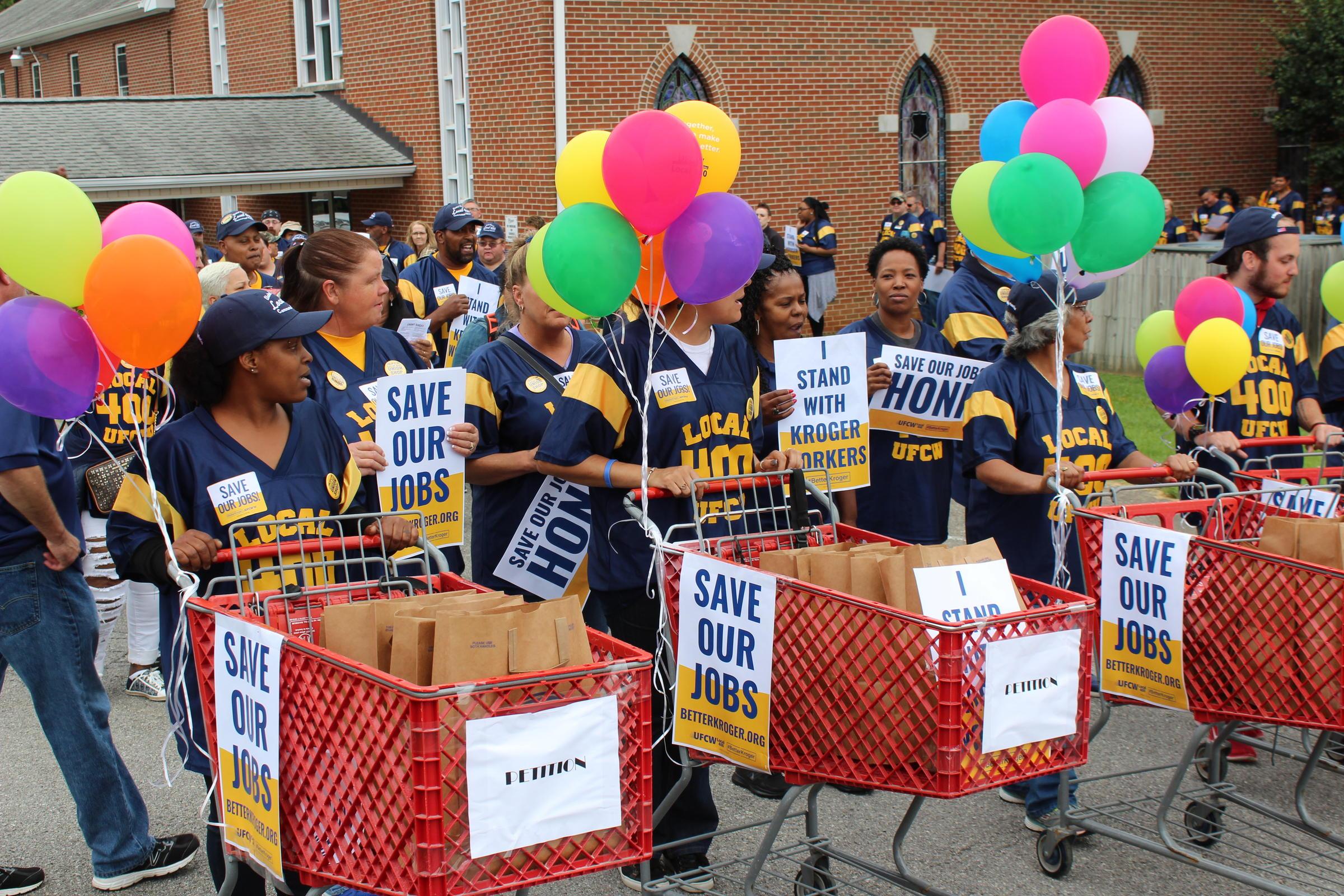 Rally Over Kroger Jobs Draws Hundreds | WVTF