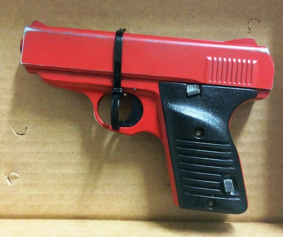 Deputies find real gun painted to look like toy | WVXU