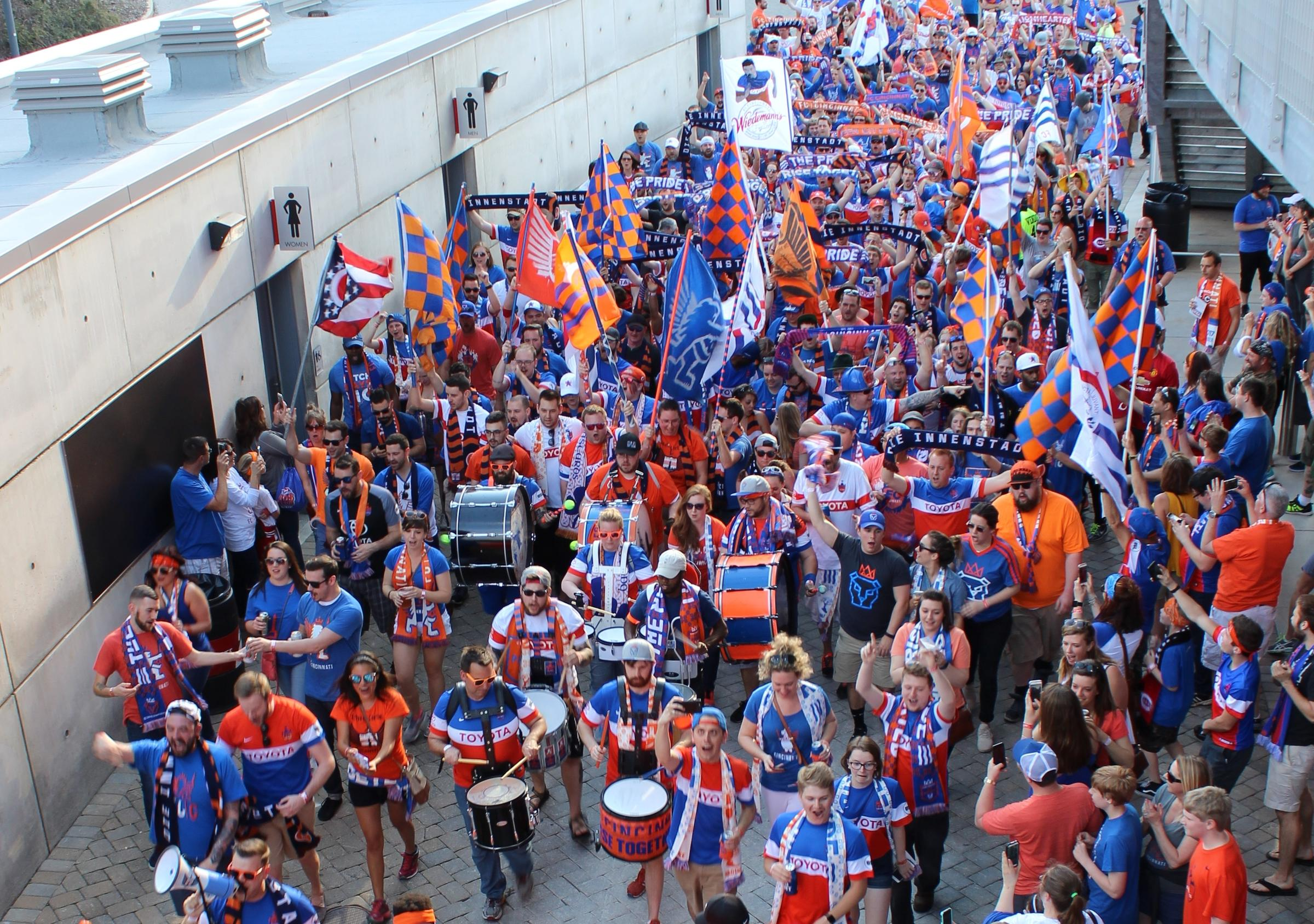 hot sale online a9982 252e7 Fans Are Ready For FC Cincinnati's First MLS Home Game | WVXU