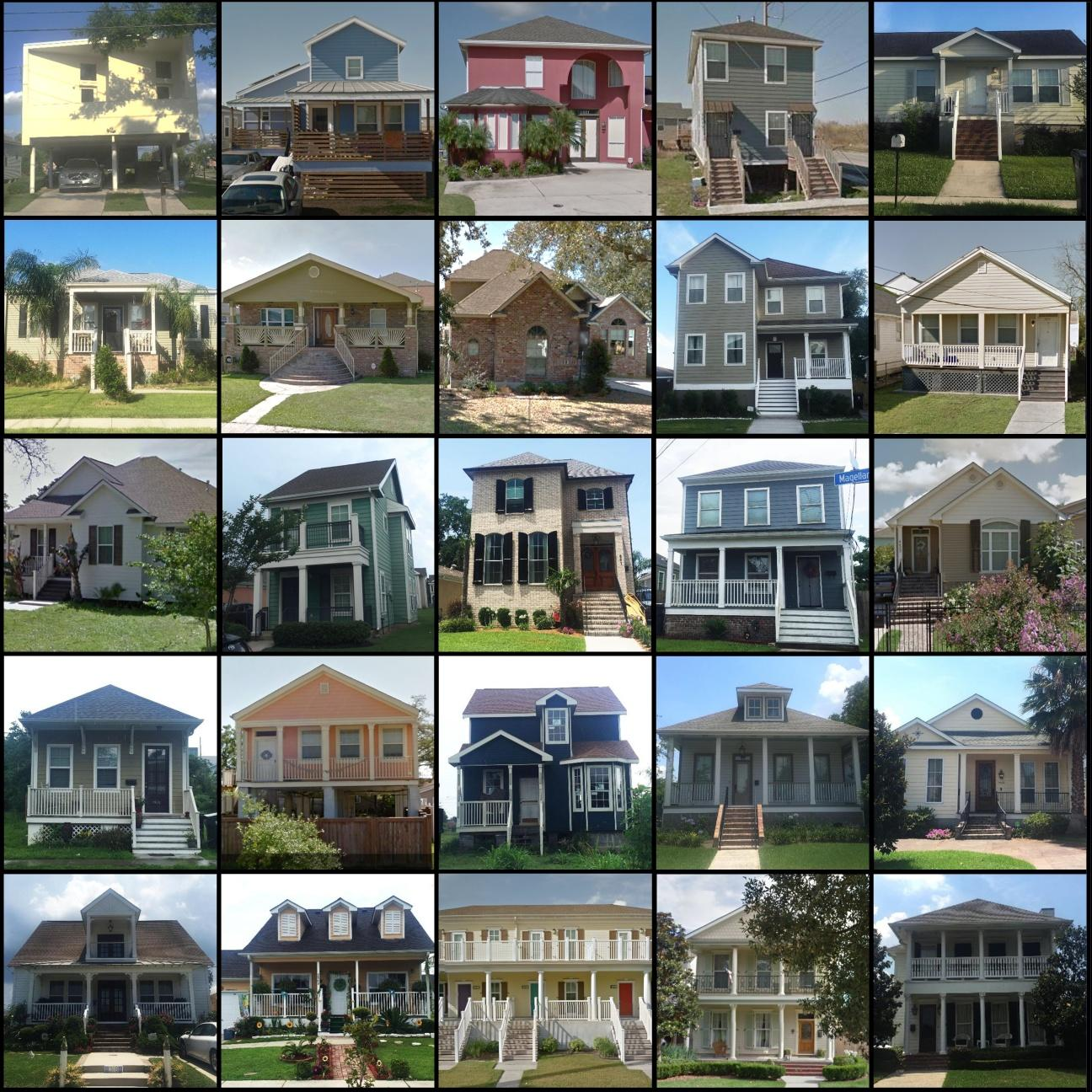 Examples Of Homes Built After Hurricane Katrina Including Modern And Historical Revival Styles When