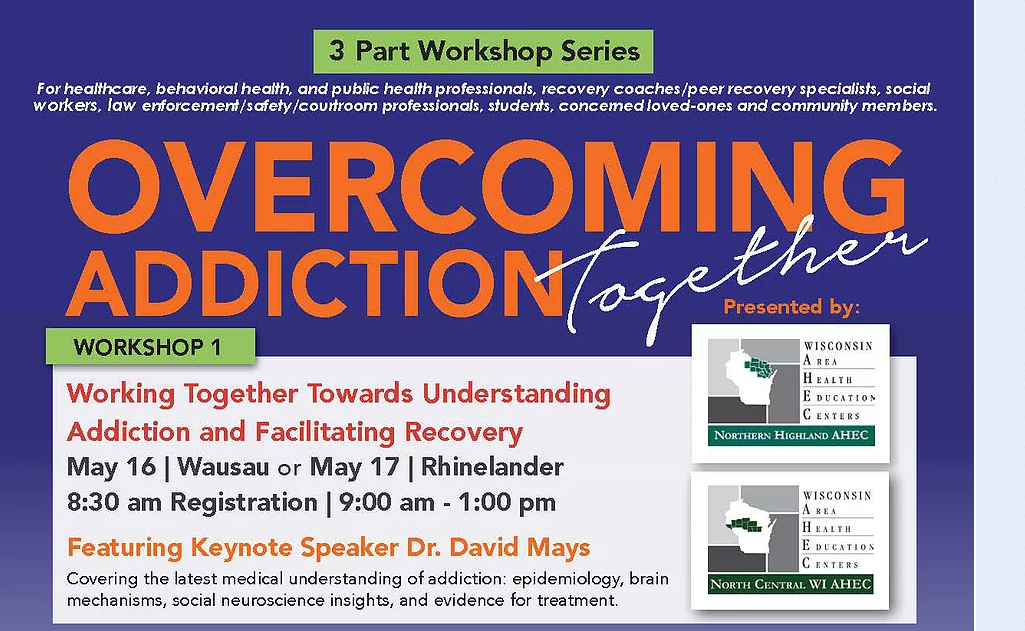 Workshops On Overcoming Addiction Together Begin This Week at