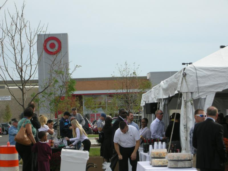Opening day of the Canton Crossing shopping center on October 8th.