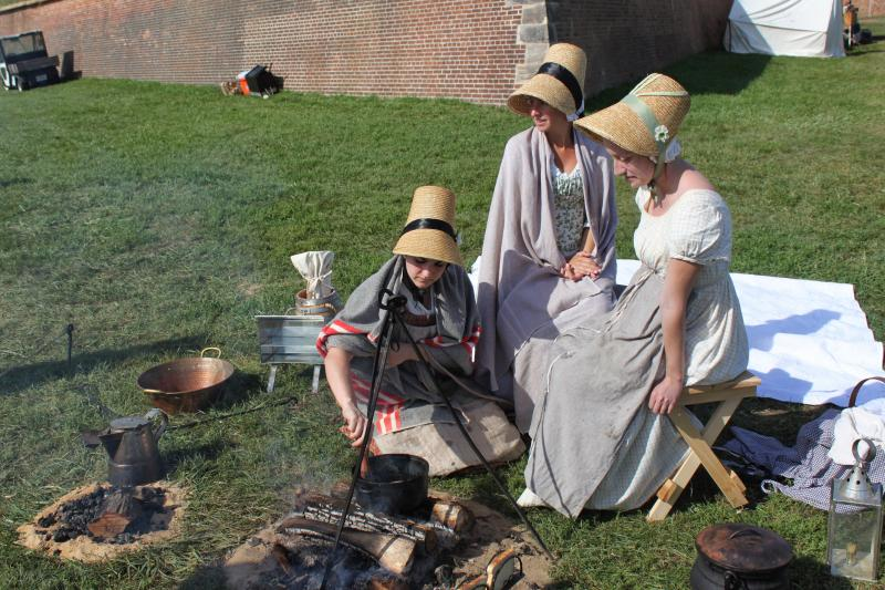 Malinda Pagel of Michigan, Alisa Beverly of Baltimore and Celeste White of Lothian used authentic cooking methods from 200 years ago.