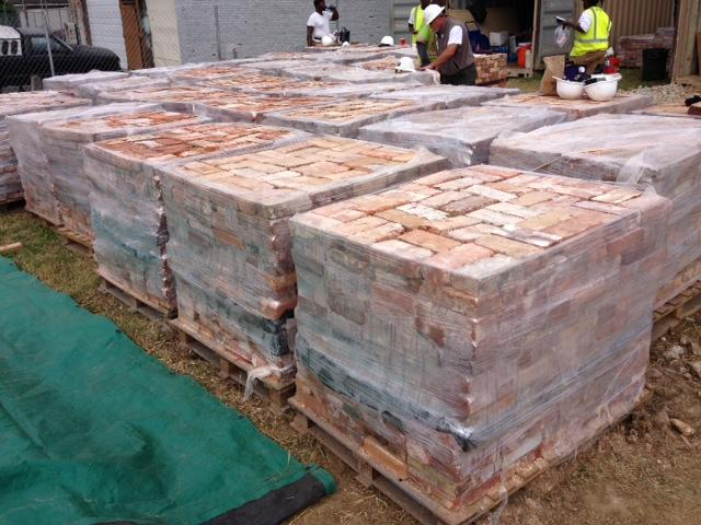 After the brick is processed, it is packed onto a pallet to be purchased by contractors along the Eastern Seaboard and Gulf Coast.